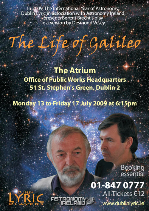 Life of Galileo poster